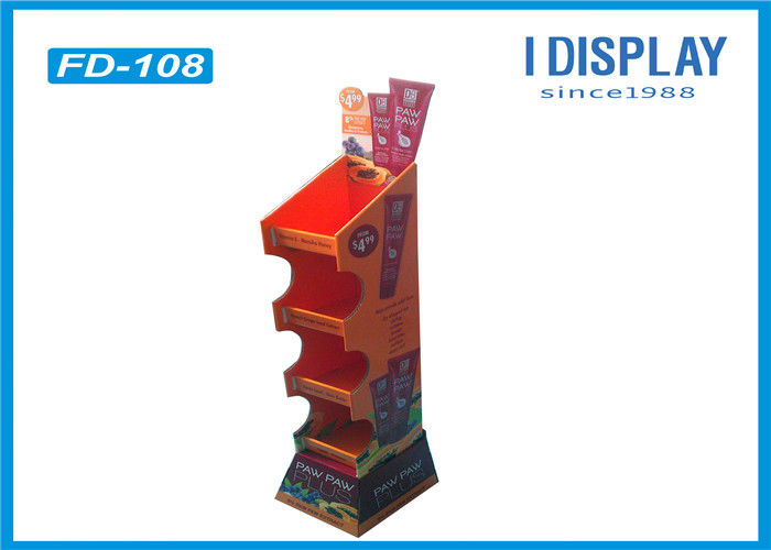 Advertising Pallet Display Stands / Corrugated Pallet Display Shelves  80*60*110 CM