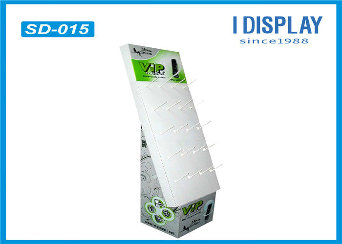 Floor Cardboard Hook Stands For Display , Cardboard Retail Display Stands