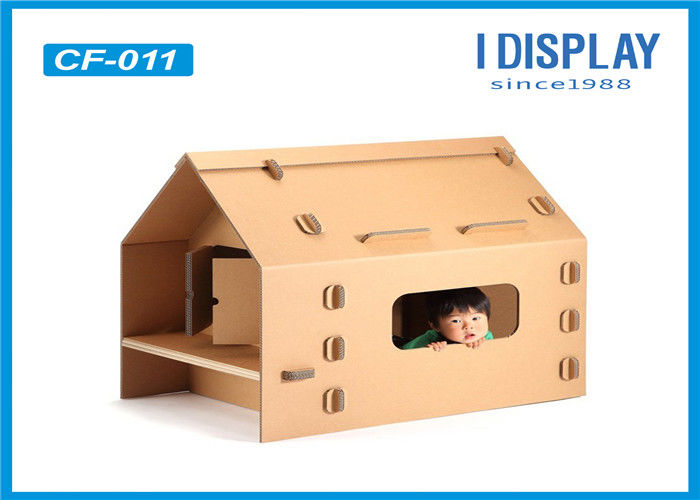 Custom Corrugated Kids Cardboard House , Large  Cardboard Playhouse For Children