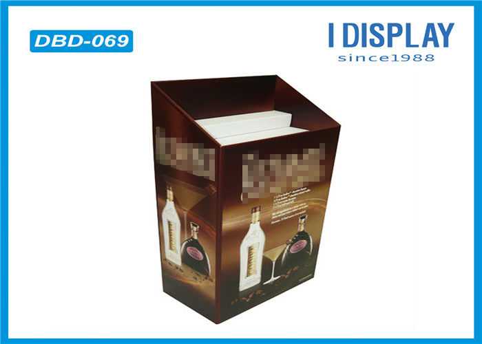 Cardboard Dump Bin Display , Stackable Wine Corrugated Display Stand