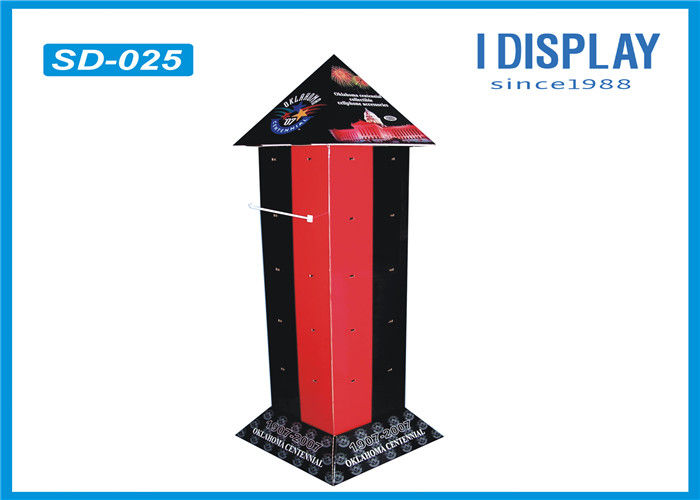 Promotional Cardboard Hook Display Stands , Recyclable Stationery Retail Display